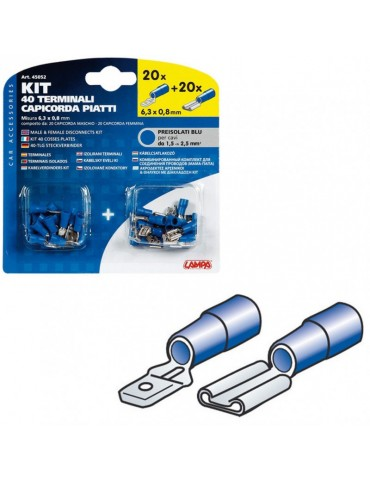 Terminales Azul Cable 1,5 - 2,5 MM2