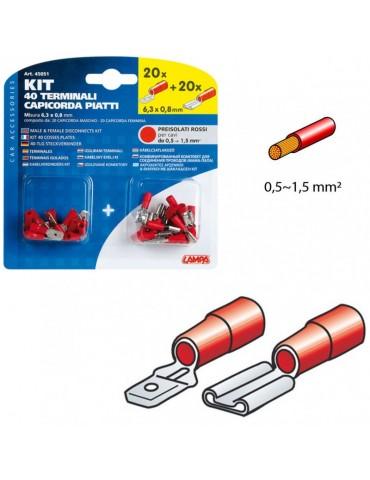 Terminales Rojos Cable 0,5 - 1,5 MM2
